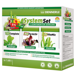 SystemSET 50 Dennerle - Set de fertilisants Fer+Engrais+Vitamines