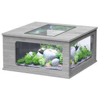 Aquatable carrée Frêne Gris 307L - 100 x 100 cm - Aquatlantis