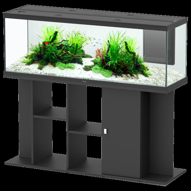 Aquarium Style Led 150 Noir Tout Equipe Avec Son Meuble 296l