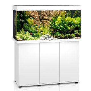 Aquarium RIO 350 LED 2x29w BLANC  + MEUBLE