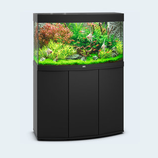 Aquarium VISION 180 LED (2x19w) NOIR  JUWEL + MEUBLE