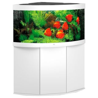 Aquarium TRIGON 350 BLANC Juwel + Meuble