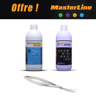 PACK MASTERLINE All In One Golden + Carbo 1000ml + CISEAUX OFFERT
