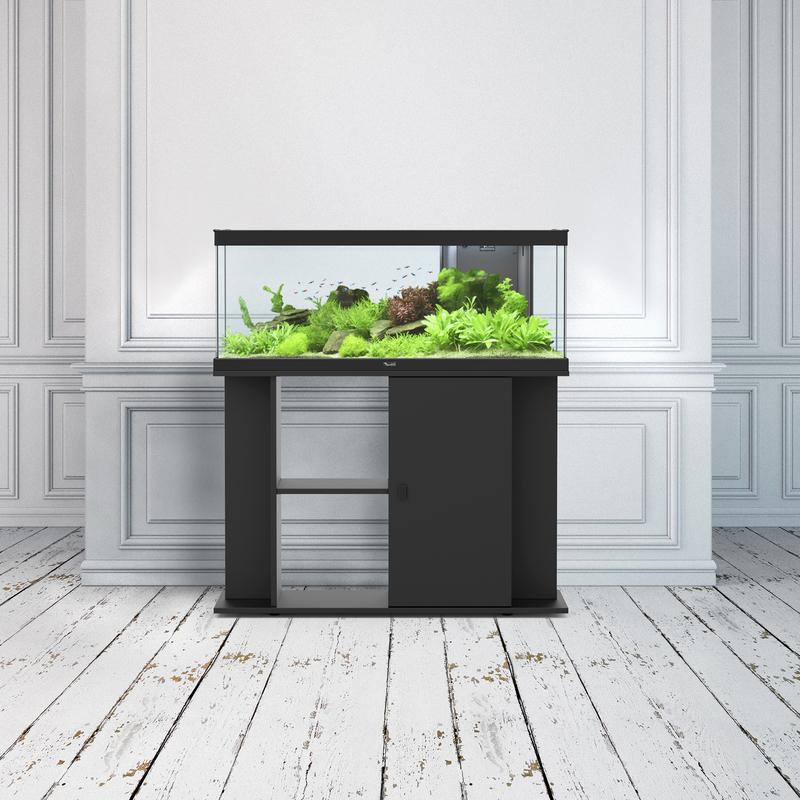 Meuble Pour Aquarium Style Led 100 Noir Aquatlantis 100cm Longueur